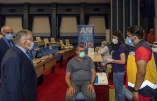 Kayseri Büyükşehir'den aşı seferberliği
