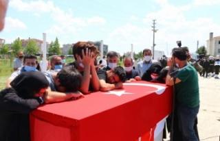 Mardin'de silah kazası sonucu şehit olan asker Tekirdağ'da...