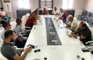 Mardinspor'da yönetim taraftar buluşması