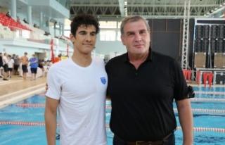 Milli yüzücü Yiğit Aslan, 800 metre serbestte...