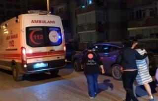 Edirne'de sitedeki dairede çıkan yangın hasara...