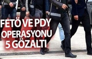 Kocaeli'de FETÖ/PDY operasyonunda 5 zanlı gözaltına...