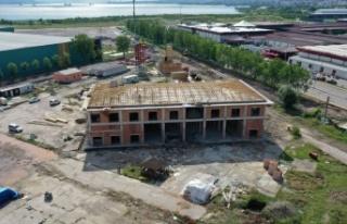 Kocaeli İtfaiyesi'nde yeni bina çalışmaları...
