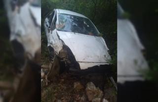 Sakarya'da otomobilin şarampole devrilmesi sonucu...