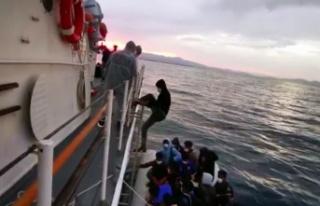 Balıkesir'de Türk kara sularına geri itilen 31...