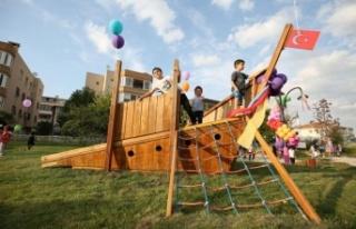 Bursa'da çocukların tasarladığı park açıldı