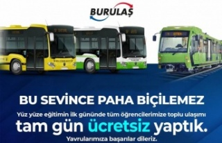 Bursa'da okula ulaşım ilk gün ücretsiz