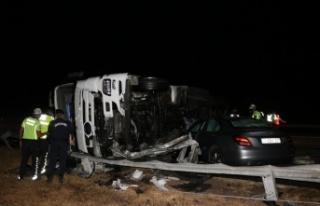 Edirne-İstanbul Otoyolu'nda zincirleme trafik kazasında...