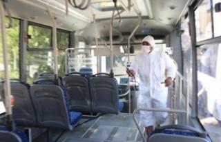 Edirne'de toplu taşıma araçları dezenfekte edildi