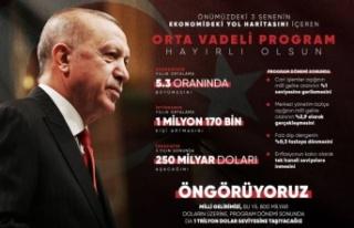 Erdoğan'dan 'orta vadeli' öngörüsü