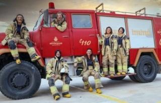 İstanbul'da kadın itfaiyeciler iş başında