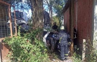 Kandıra'da cenazeye gidenleri taşıyan otomobil...