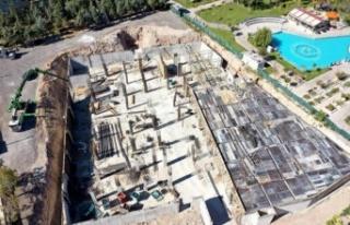 Aksaray'da Selçuklu Külliyesi hızla yükseliyor