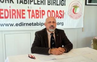 Edirne Tabip Odası Başkanı Prof. Dr. Altun'dan...