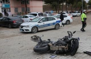 Edirne'de motosikletli polis memuru, olay yerine giderken...