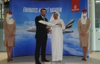 Emirates, A380'nin Istanbul'a inişini kutluyor...