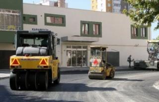Kayseri Talas'ta asfalt mesaisi