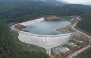Keles Kocayayla Göleti inşaatının yüzde 85'i...