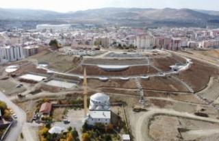 Sivas'ta Yumurtatepe Bölge Parkı hız kazandı