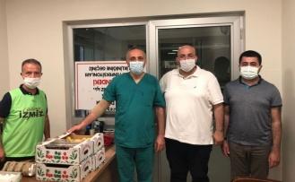 İzmit'te sağlık çalışanları unutulmadı