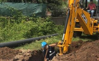 Sakarya Karasu'ya yeni kanalizasyon hattı