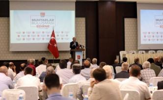 CHP Genel Başkanı Kılıçdaroğlu, Edirne'de muhtarlarla buluştu: (2)