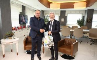 Belediye Başkanı Erdem, Ardino Belediye Başkanı Şaban'ı ağırladı