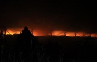 Büyükbaş hayvan çiftliğinde çıkan yangın kontrol altına alındı