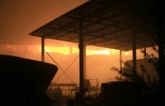 Büyükbaş hayvan çiftliğinde saman balyalarındaki yangın 42 saat sonra söndürüldü