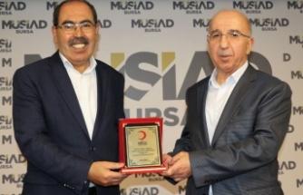 Kızılay Osmangazi'den MÜSİAD Bursa'ya teşekkür