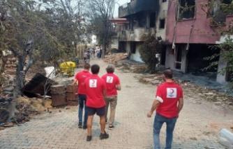 Antalya'daki yangınzedelere Kızılay'dan destek