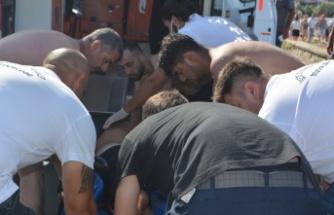 Boğulma tehlikesi geçiren kişi kurtarıldı