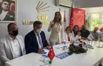 CHP Kadın Kolları Genel Başkanı Nazlıaka, Yalova'da