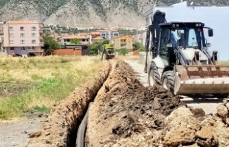 Manisa Kırkağaç'ta kanalizasyon hattı yenilendi