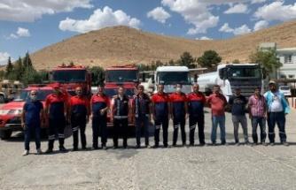 Mardin Büyükşehir'den yangın söndürme çalışmalarına tam destek