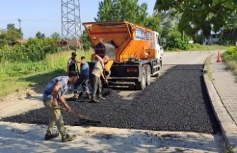 Sakarya Pireahmetler'de asfalt yamalar tamamlandı