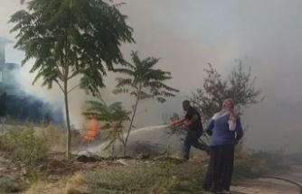 Manisa Büyükşehir ve MASKİ'den yangına müdahale