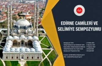 """Diyanet İşleri Başkanlığı 2-3 Ekim'de """"Edirne Camileri ve Selimiye Sempozyumu"""" düzenleyecek"""