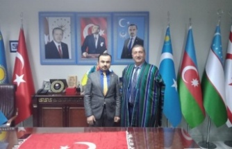 Doğu Türkistan Cumhurbaşkanı'na ABP'den ziyaret