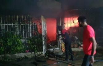 Gemlik bir apartmanın birinci katında çıkan yangın söndürüldü