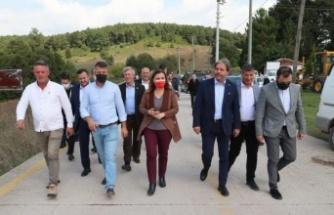 İzmit Belediye Başkanı Hürriyet Dağköy'deki çalışmaları inceledi