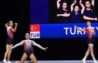 Manisalı milli cimnastikçiler Avrupa 4. oldu