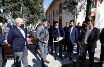 Bursa İnegöl Belediye Başkanı Taban, çalışmaları yerinde inceledi