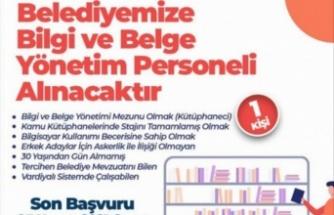 Bursa İnegöl Belediyesi, Bilgi ve Belge Yönetim bölümüne personel arıyor