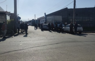 Otomobillerin çarpışması ile 1 kişinin yaralandığı kaza kamerada