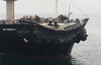 Çanakkale açıklarında iki yük gemisi çarpıştı!