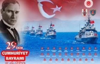 Deniz Kuvvetleri Komutanlığı, 29 gemiyle 29 limanda bayrak töreni yapacak