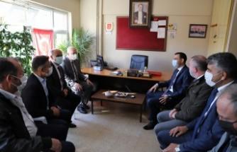 Hayrabolu Kaymakamı Sülün ve Belediye Başkanı İnan'dan muhtarlara ziyaret