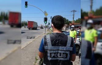 """Kocaeli'de kurallara uymayan sürücüler """"drone""""dan kaçamadı"""
