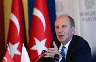 """Memleket Partisi Genel Başkanı İnce'den """"ittifak"""" açıklaması:"""